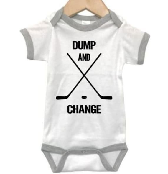 Dump and Change Hockey Baby Bodysuit Infant One Piece or Toddler T-Shirt