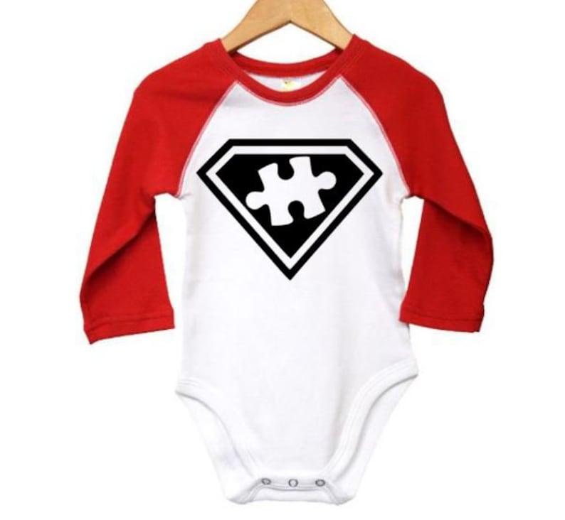 Newborn Autism Autism Onesie Baby Shower Gift Super Autism Autism Awareness Austism Infant Autism Raglan Onesie Baby Autism Outfit