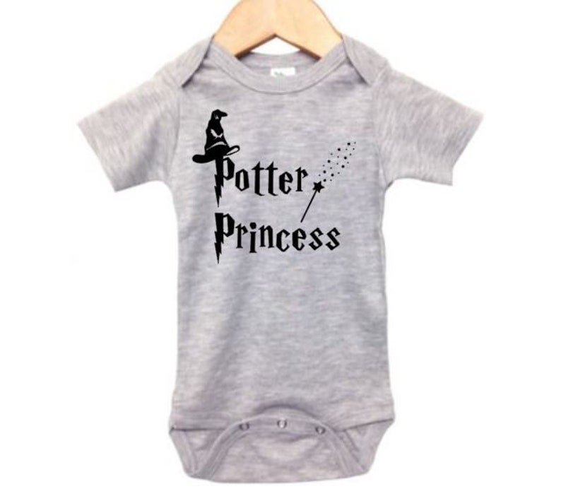 c7b864e8e Harry Potter Onesie Potter Princess Funny Baby Outfit | Etsy