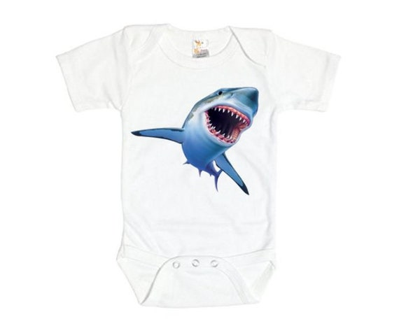 Baby Boy Girl O-Neck Long-Sleeve Solid Color Onesie Cute Baby Shark Crawling Suit