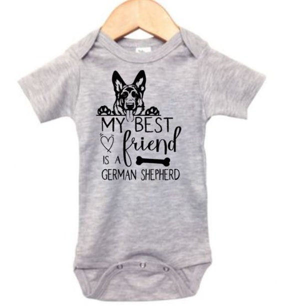 Baby German Shepherd Outfit My Best Friend Is A German Shepherd Baby Shower