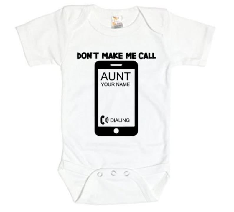 ba1cd6d25 Auntie Onesie Don't Make Me Call Aunt Baby Aunt Onesie | Etsy