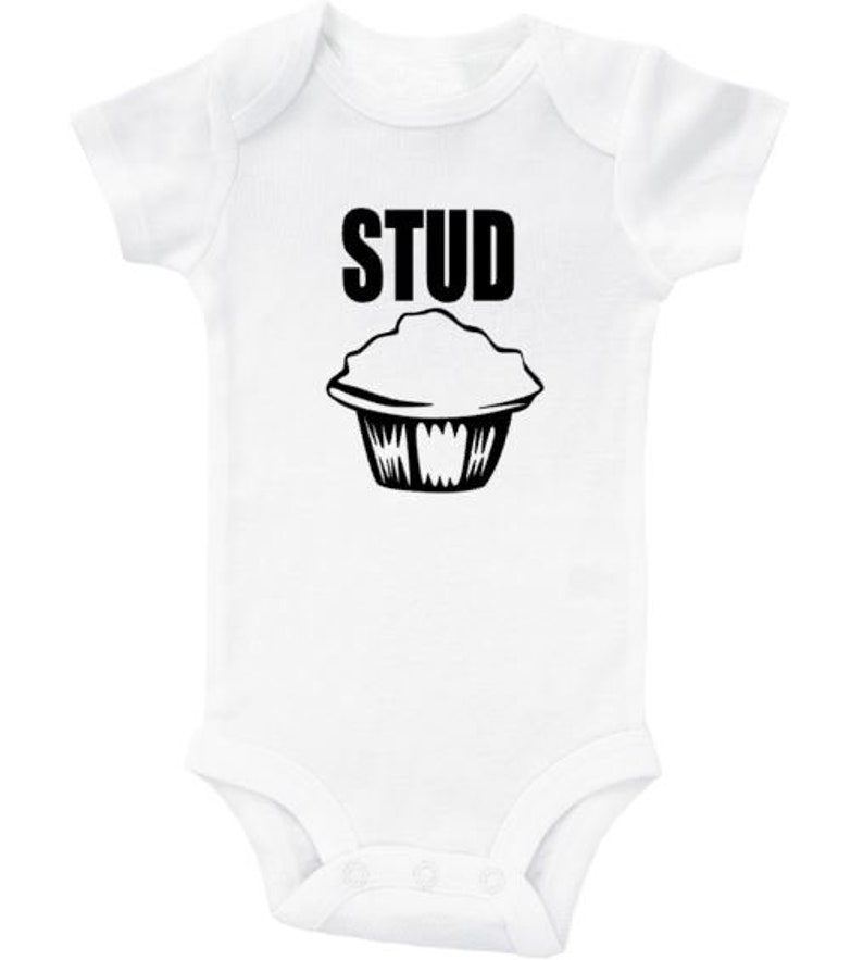 Stud Muffin Baby Creeper Funny Newborn Outfit Trendy Baby Onesie Infant Onesie Cute Newborn Romper Muffin Bodysuit Stud Muffin Onesie