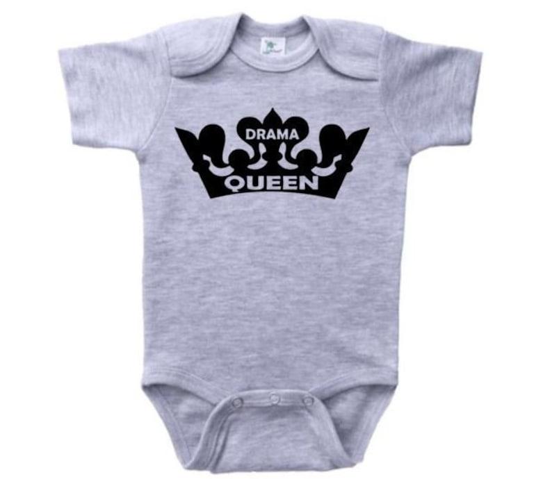 0ec3faf98 Baby Girl Onesie Drama Queen Bodysuit Queen Outfit For Baby | Etsy