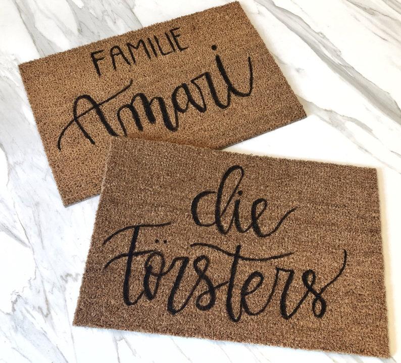 Personalisierte Fußmatte Hochzeitsgeschenk