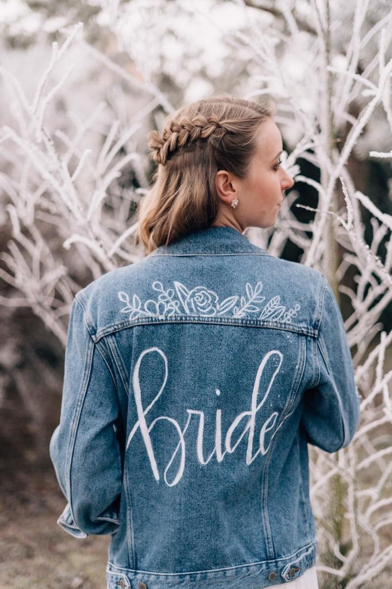 Braut Jeansjacke personalisiert