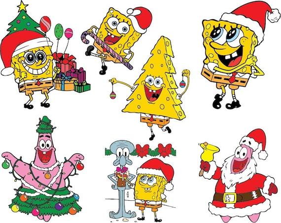 Spongebob Christmas.Spongebob Christmas Clipart Image Png Eps Jpg Digital Graphic Design Instant Download Commercial Use