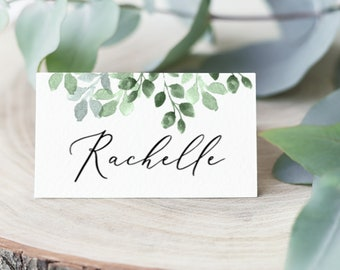 Leaves Greenery Tent Wedding Name Cards Editable pdf Templett Printable Place Cards INSTANT DOWNLOAD DIY Printable Decorations