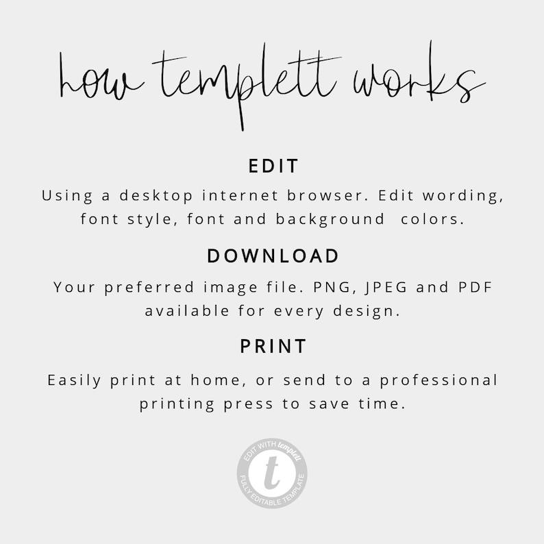 Modern Green Green Handwritten Wedding Invitation Calligraphy Printable Wedding Invitation PDF Instant Download Editable Template