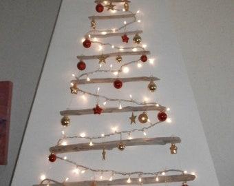 Alberi Di Natale In Legno Da Appendere : Alberi di natale in legno shabby chic albero di natale shabby