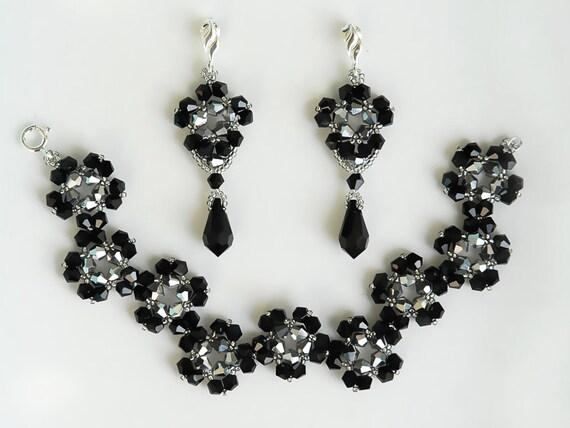 Conjunto de Cristal Blanco Shamballa Colgante Collar Pulsera Pendientes Joyería conjuntos.