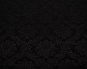Rankenstoff Schwarz Schwarzer Stoff Mit Blumen