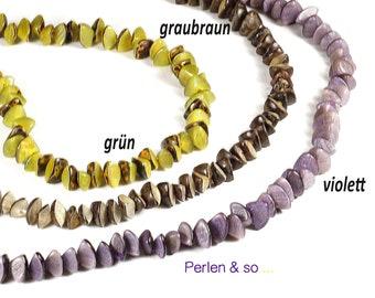 Buri Tuben türkis 12-15mm Palmsamen Tubenperlen Samenperlen