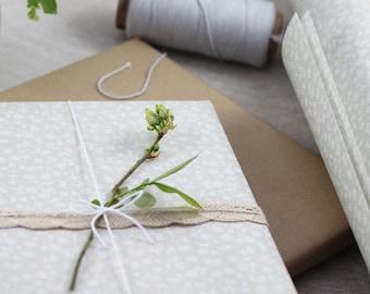 "Geschenkpapier  ""floral mini"", beige, 5 Bogen A3 [linava]"