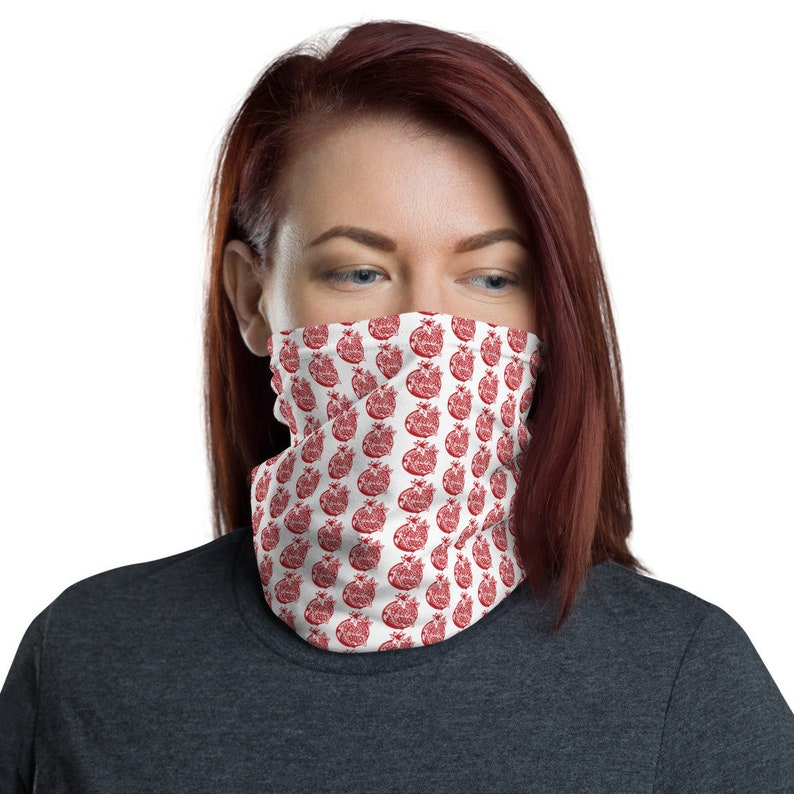 A Rocky Pomegranate design Neck Gaiter with free worldwide image 0