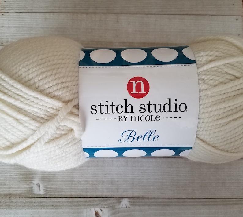 Stitch Studio by Nicole Belle Yarn in Cream, Super Bulky 6, Crochet Yarn,  Knitting Yarn, Neutral Yarn, Ready to Ship