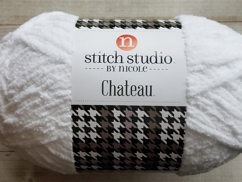 Stitch Studio by Nicole Chateau in Angora, White Yarn, Blanket Yarn,  Crochet Yarn, Knitting Yarn, Yarn