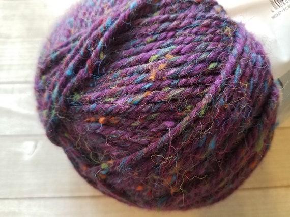 Stitch Studio by Nicole Comfort Yarn in Purple with Speckles, Bulky 5 Yarn,  10 5oz, 326yds, Crochet Yarn, Knitting Yarn, Yarn