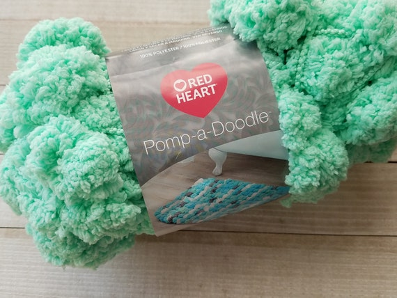 3 Pack Red Heart Pomp-a-Doodle Yarn-Mint