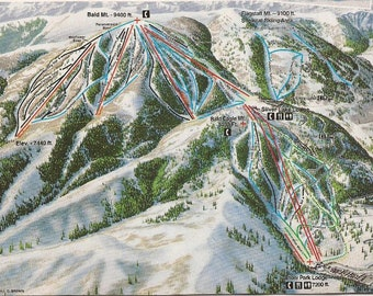 Deer valley map | Etsy on