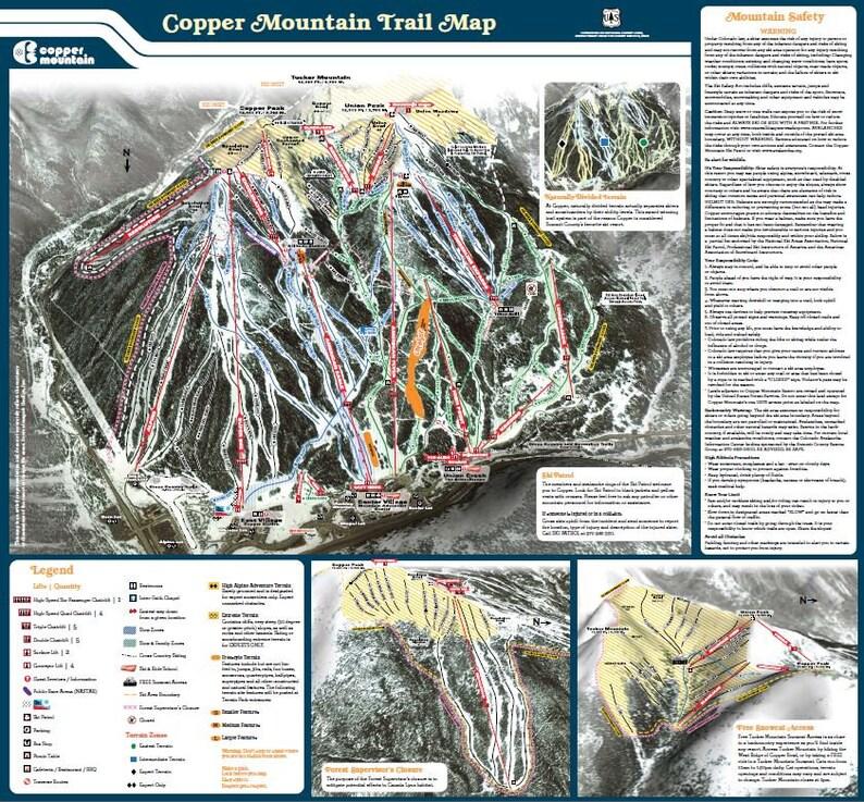 2009 COPPER MOUNTAIN Ski Map