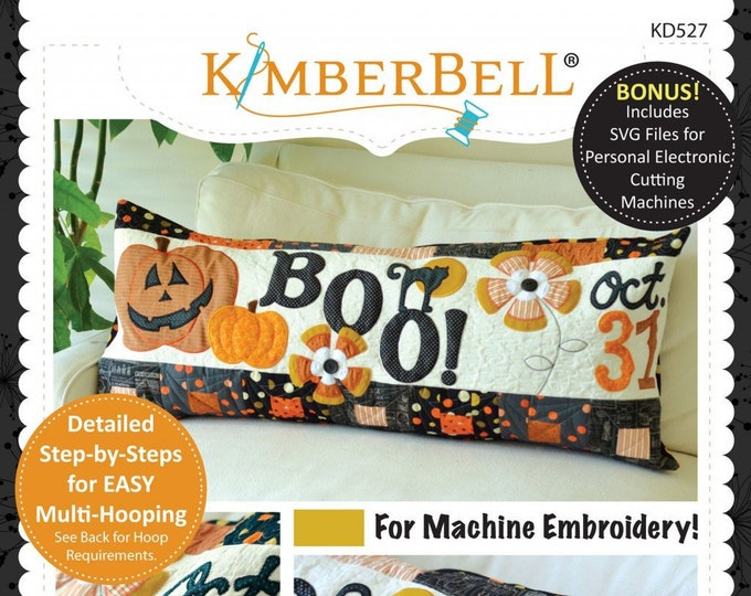 Halloween Boo! Bench Pillow Machine Embroidery CD by Kimberbell