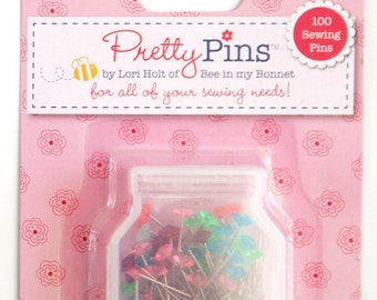 Pretty Pins by Lori Holt 100 Sewing Pins