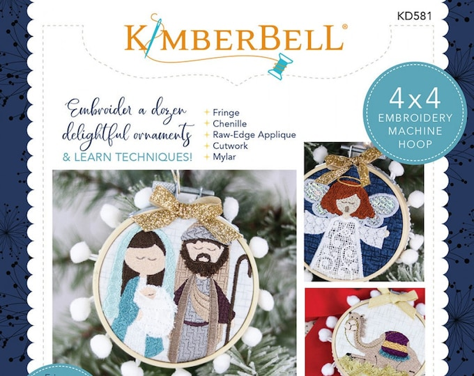 Happy Hoop Decor Vol. 2 Christmas Nativity Ornaments by Kimberbell