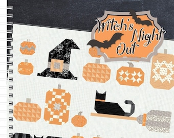 Witches Night Out Quilt Pattern from It's Sew Emma
