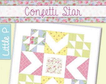 Confetti Star Quilt Pattern by It's Sew Emma
