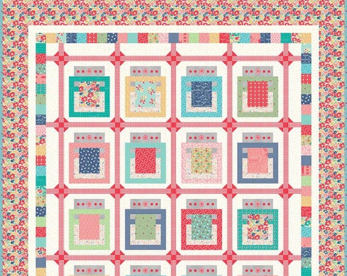 Baked With Love Quilt Kit Featuring Vintage Happy 2 by Lori Holt