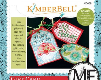 "Gift Card ""Pocket Tags"" Machine Embroidery CD by Kimberbell"