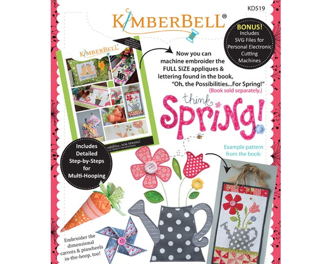 Oh, The Possibilities For Spring!  Companion Machine Embroidery CD