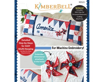 America, Land That I Love Bench Pillow Machine Embroidery CD by Kimberbell