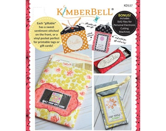 Giftables Vol. 1 In-The-Hoop Pocket Tags Machine Embroidery CD by Kimberbell