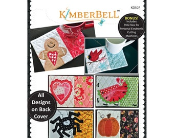 Holiday & Seasonal Mug Rugs Vol 1 Machine Embroidery CD by Kimberbell