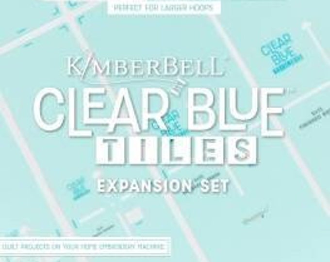Clear Blue Tiles Expansion Pack by Kimberbell