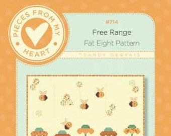 Free Range Quilt Pattern by Sandy Gervais