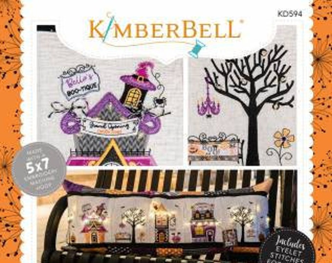 Twilight Boo-levard Bench Pillow Machine Embroidery CD by Kimberbell