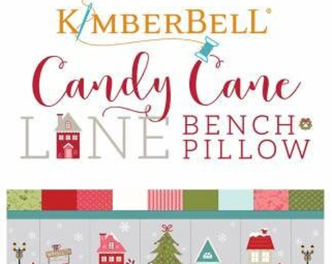 Candy Cane Lane Bench Pillow Machine Embroidery CD by Kimberbell