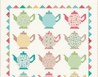 Granny Chic Tea Pots Quilt Kit by Lori Holt for Riley Blake Designs