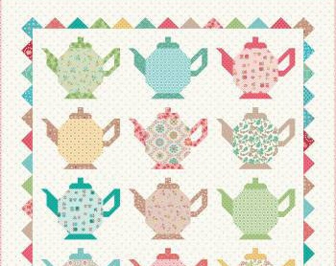 Featured listing image: Granny Chic Tea Pots Quilt Kit by Lori Holt for Riley Blake Designs