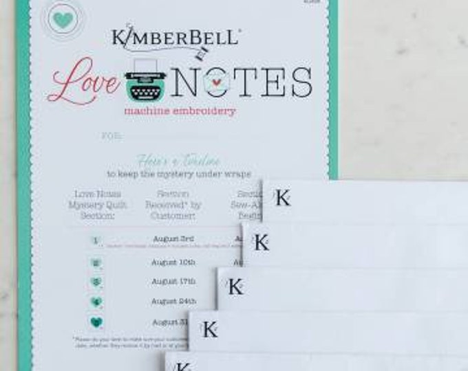 Love Notes for Machine Embroidery by Kimberbell