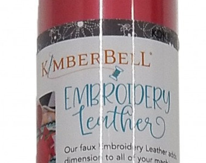 Kimberbell Embroidery Leather - Cherry Red