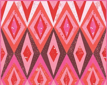 Bohemian Spark Quilt Kit Featuring Just Red by Zen Chic for Moda