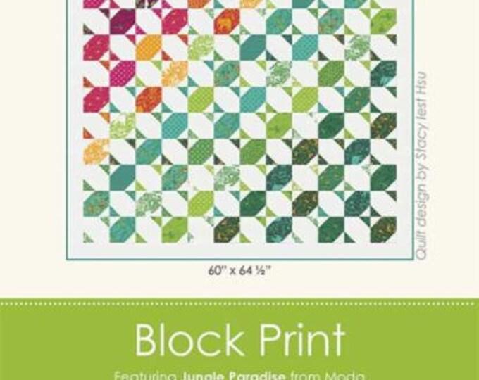Block Print Quilt Pattern by Stacy Iest Hsu