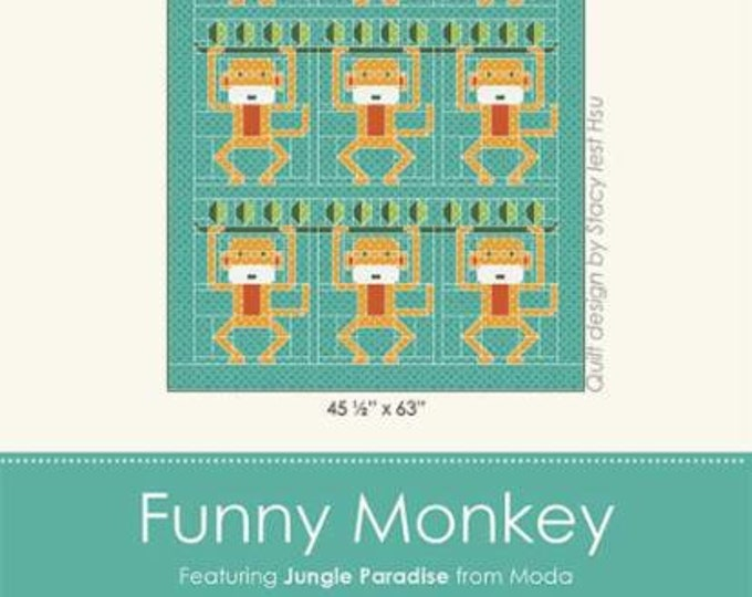 Funny Monkey Quilt Pattern by Stacy Best Hsu