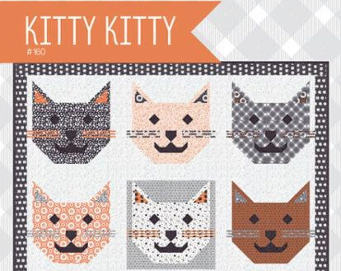 Kitty Kitty Quilt Pattern by April Rosenthal