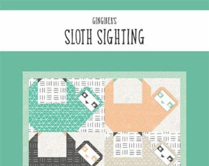 Sloth Sighting Quilt Pattern by Gingiber