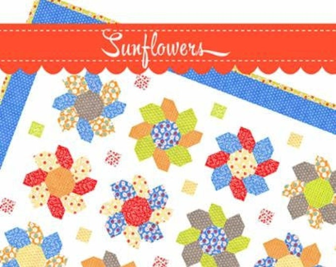 Sunflowers Quilt Pattern by Fig Tree & Co